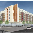 A rendering of the new Residence Inn by Marriott hotel proposed for Arsenal Street in Watertown by developer Boylston Properties.