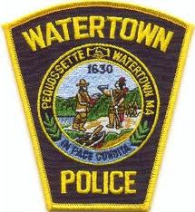 This image has an empty alt attribute; its file name is Watertown-Police-Patch.jpeg