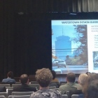 Design consultant David Gamble, left, discusses the design standards and guidelines being created in Watertown.