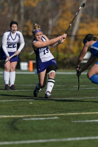 Stonehill College's Erika Kelly, a Watertown High grad, was named the NCAA Div. II Player of the Year.