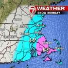 Snowfall forecast for the Feb. 8 storm.