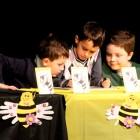 A team of second graders work on a word during the sixth annual Town-wide Spelling Bee.