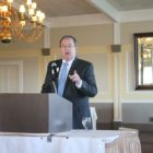 Town Manager Michael Driscoll spoke at the Watertown Belmont Chamber of Commerce's State of the Towns Breakfast.