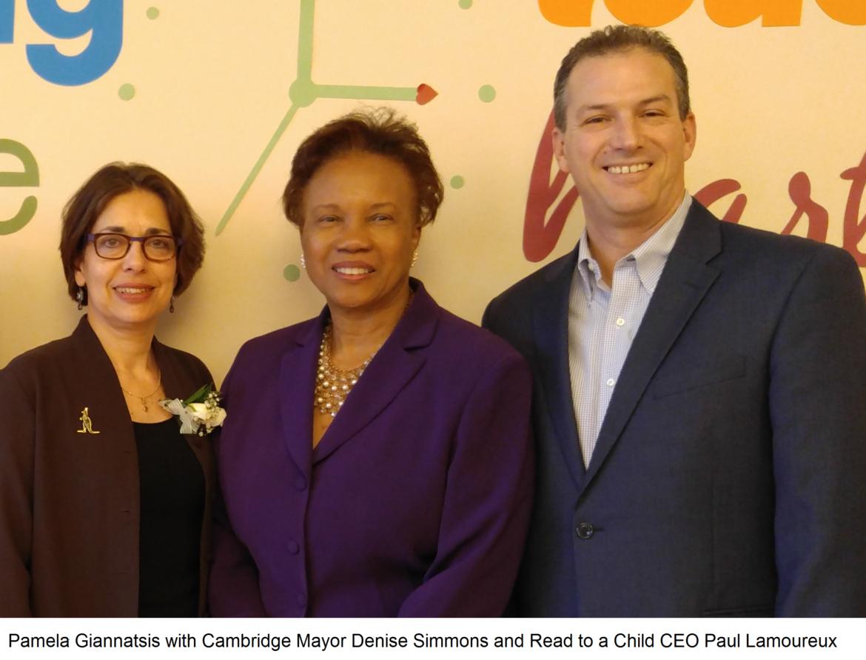 Pam Giannatsis Cambridge Mayor Read to a Child CEO