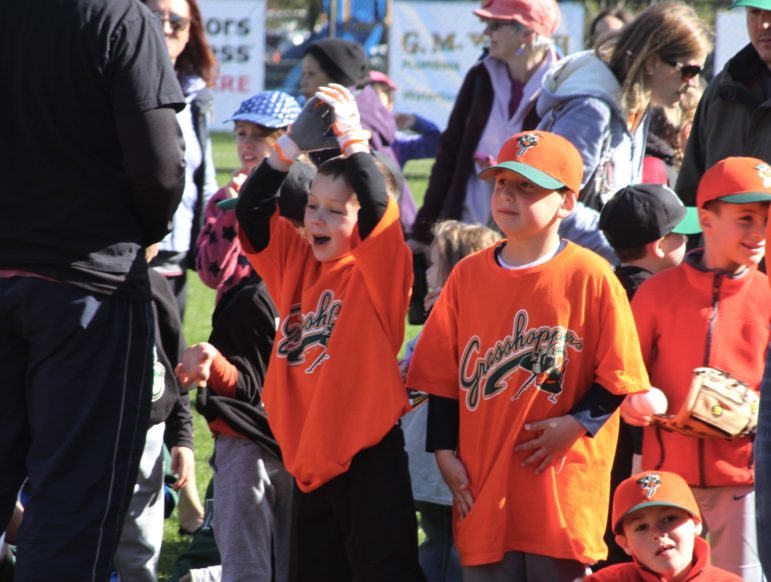 Young baseball players gathered at Casey Field for the Watertown Youth Baseball and Softball celebration.