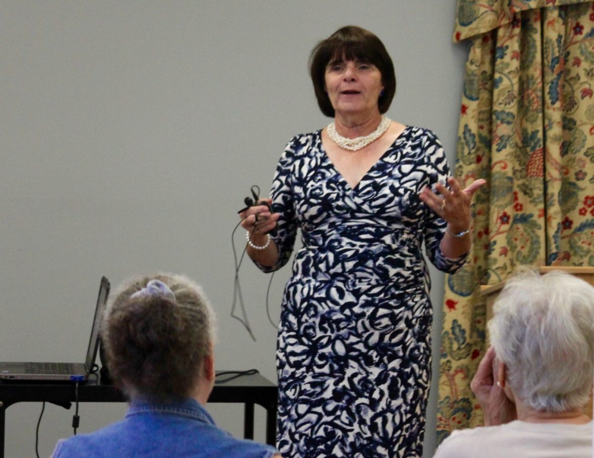 Middlesex District Attorney Marian Ryan spoke at the Watertown Senior Center about avoiding scams.
