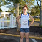 Watertown's Julia Doucett ran the Falmouth Road Race as part of the Brain Injury Association of Massachusetts team.
