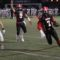 Watertown quarterback Deon Smith carries the ball in for the first touchdown in the Raiders' victory over Plymouth South.